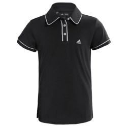 Adidas Golf ClimaLite® Piped Polo Shirt - Short Sleeve (For Girls) in Periwinkle/Bluebonnet