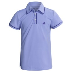 Adidas Golf ClimaLite® Piped Polo Shirt - Short Sleeve (For Girls) in Black/White