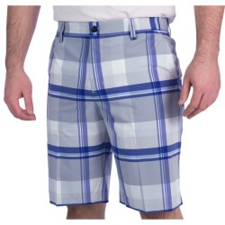 Adidas Golf Climalite® Plaid Shorts (For Men) in Navy/White/Ultramarine/Crisp
