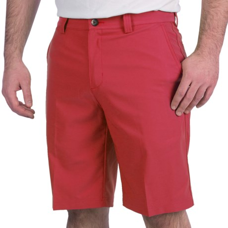 Adidas Golf Climalite® Tech Shorts - Flat Front (For Men) in Bright Coral
