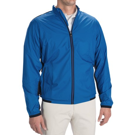 Adidas Golf ClimaProof® Stretch Wind Jacket (For Men) in Ultramarine/Black