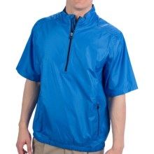 Adidas Golf ClimaProof Wind Pullover - Zip Neck, Short Sleeve (For Men) in Oasis/Navy - Closeouts