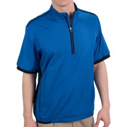Adidas Golf Climaproof® Wind Shirt - Zip Neck, Short Sleeve (For Men) in Ultramarine