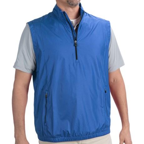 Adidas Golf ClimaProof® Wind Vest - Zip Neck (For Men) in Oasis/Navy