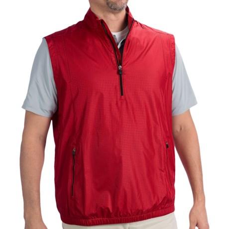 Adidas Golf ClimaProof® Wind Vest - Zip Neck (For Men) in University Red/Black