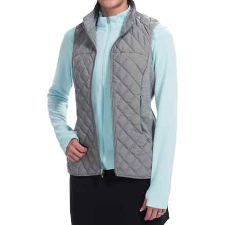 adidas golf ClimaWarm® Vest - Insulated (For Women) in Solid Grey/Core Heather - Closeouts
