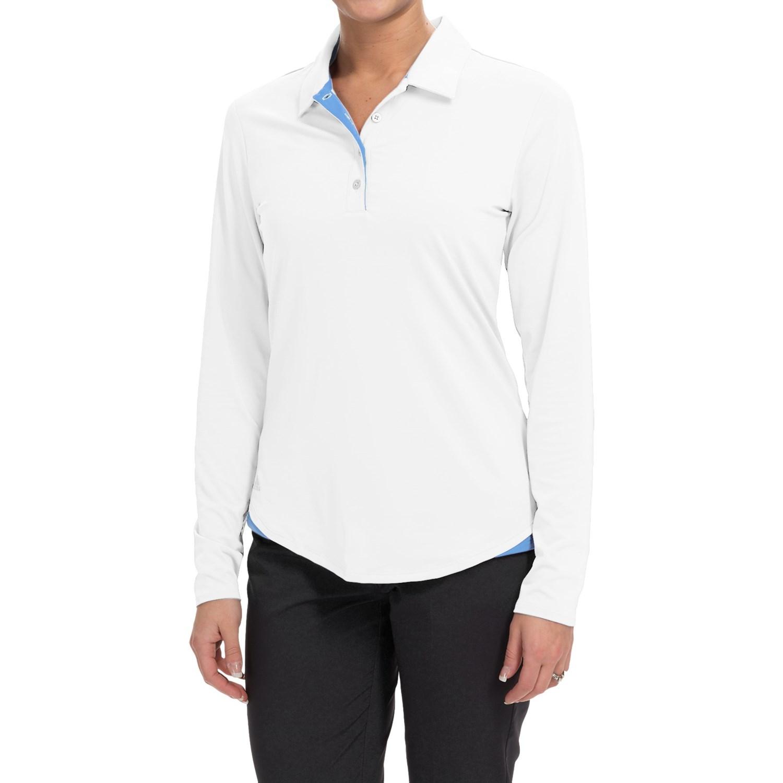 Adidas Golf Essentials 3 Stripes Polo Shirt For Women