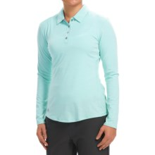 adidas golf Essentials Heather Polo Shirt - Long Sleeve (For Women) in Ice Blue Heather - Closeouts