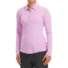 adidas golf Essentials Heather Polo Shirt - Long Sleeve (For Women) in Light Orchid Heather - Closeouts