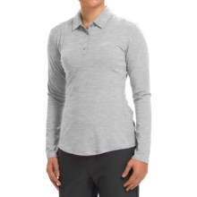 adidas golf Essentials Heather Polo Shirt - Long Sleeve (For Women) in Medium Grey Heather - Closeouts