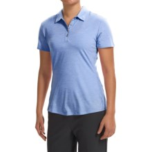 adidas golf Essentials Heather Polo Shirt - Short Sleeve (For Women) in Bahia Light Blue Heather - Closeouts
