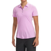 adidas golf Essentials Heather Polo Shirt - Short Sleeve (For Women) in Light Orchid Heather - Closeouts
