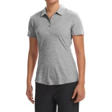 adidas golf Essentials Heather Polo Shirt - Short Sleeve (For Women) in Medium Grey Heather - Closeouts