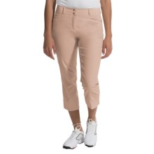 adidas golf Essentials Lightweight Capris (For Women) in Lite Khaki - Closeouts