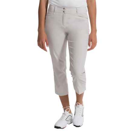 adidas golf Essentials Lightweight Capris (For Women) in Pearl Grey - Closeouts