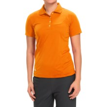 adidas golf Essentials Polo Shirt - Short Sleeve (For Women) in Bright Orange/White - Closeouts