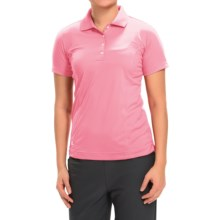 adidas golf Essentials Polo Shirt - Short Sleeve (For Women) in Light Pink - Closeouts