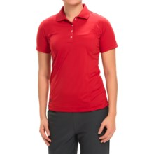 adidas golf Essentials Polo Shirt - Short Sleeve (For Women) in Power Red/Black - Closeouts