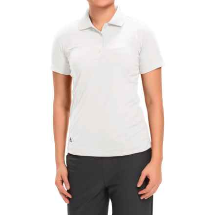 adidas golf Essentials Polo Shirt - Short Sleeve (For Women) in White/Black - Closeouts