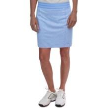 adidas golf Essentials Rangewear Skort (For Women) in Bahia Light Blue Heather - Closeouts