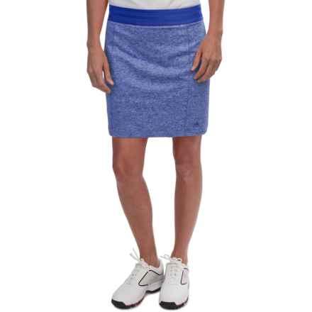 adidas golf Essentials Rangewear Skort (For Women) in Bold Blue Heather - Closeouts
