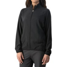adidas golf Essentials Woven Wind Jacket - Full Zip (For Women) in Black - Closeouts