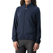 adidas golf Essentials Woven Wind Jacket - Full Zip (For Women) in Navy - Closeouts