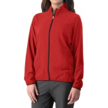 adidas golf Essentials Woven Wind Jacket - Full Zip (For Women) in Power Red/Black - Closeouts