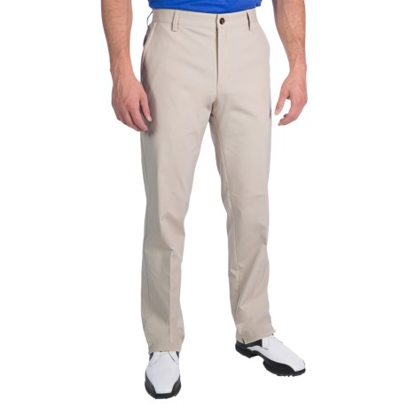 Adidas Golf Fall Weight Pants - Flat Front (For Men) in Ecru