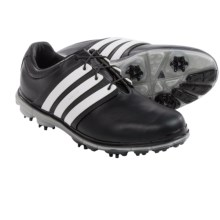 adidas golf Pure 360 LTD Golf Shoes - Leather (For Men) in Black/White/Silver - Closeouts