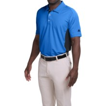Adidas Golf puremotion® Color-Block Polo Shirt - Short Sleeve (For Men) in Bright Royal/Rich Blue - Closeouts