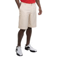 adidas golf Solid Flat-Front Shorts (For Men) in Ecru/White - Closeouts