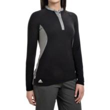 adidas golf Tour Modal Henley Shirt - Long Sleeve (For Women) in Black - Closeouts