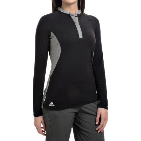 adidas golf Tour Modal Henley Shirt Long Sleeve (For Women)