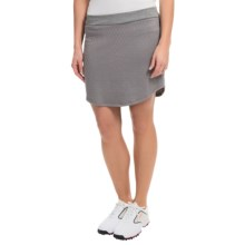 adidas golf Tour Quilted Skort - Liner Shorts Included (For Women) in Solid Grey - Closeouts