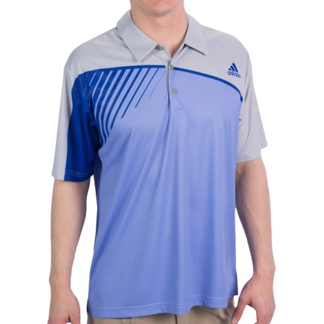 Adidas Golf US Open Polo Shirt - Climalite®, Short Sleeve (For Men) in Chrome/Periwinkle/Bluebonnet