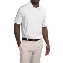 adidas golf UV Elements Tonal Stripe Polo Shirt - UPF 50+, Short Sleeve (For Men) in White - Closeouts