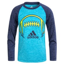 adidas Graphic Shirt - Long Sleeve (For Little Boys) in Football - Closeouts