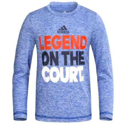 adidas Graphic Shirt - Long Sleeve (For Little Boys) in Legend On The Court - Closeouts