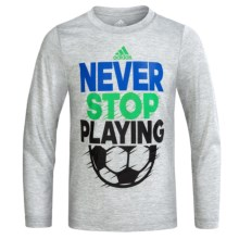 adidas Graphic Shirt - Long Sleeve (For Little Boys) in Never Stop Playing - Closeouts