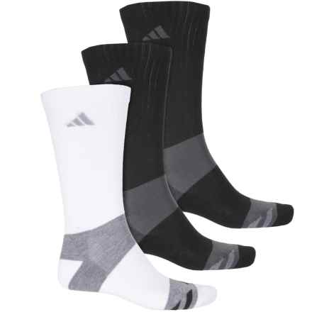 adidas Graphic Socks - 3-Pack, Crew (For Men) in Black/White/Black - Closeouts