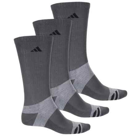 adidas Graphic Socks - 3-Pack, Crew (For Men) in Onix/Light Onix/Black - Closeouts