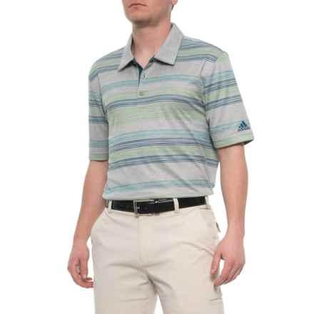 9f5cd6c14b3 adidas Handdrawn Pique Polo Shirt - Short Sleeve (For Men) in Medium Grey  Heather