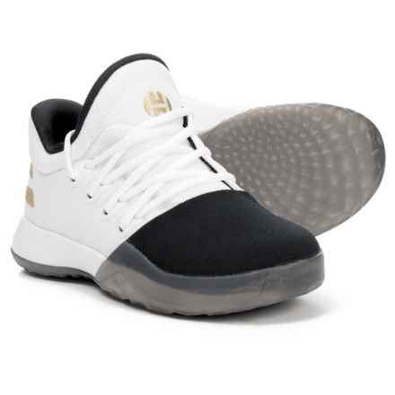 adidas Harden Vol. 1 Basketball Shoes (For Big and Little Kids) in Footwear White/Core Black/Gold Metallic - Closeouts