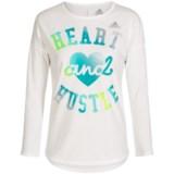 adidas Heart and Hustle T-Shirt - Long Sleeve (For Big Girls)