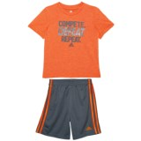 adidas Heather T-Shirt and Shorts Set - 2-Piece, Short Sleeve (For Toddler Boys)
