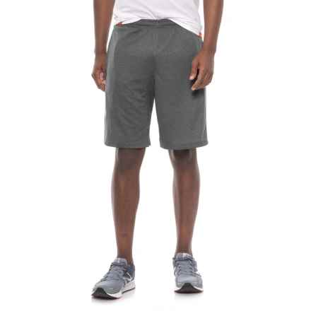 adidas Heathered Athletic Shorts (For Men) in Black Heather / Solid Grey Panel - Closeouts