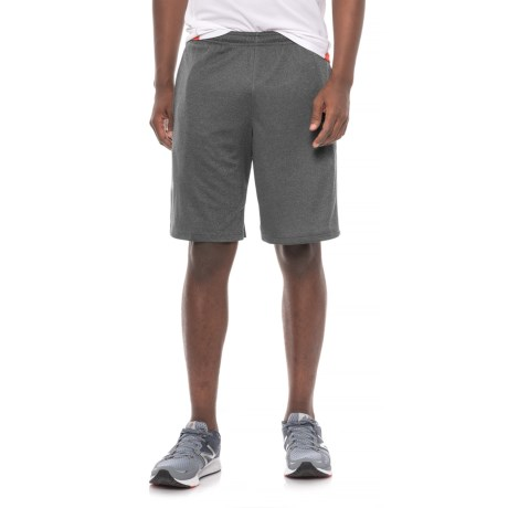 adidas Heathered Athletic Shorts (For Men) in Black Heather / Solid Grey Panel