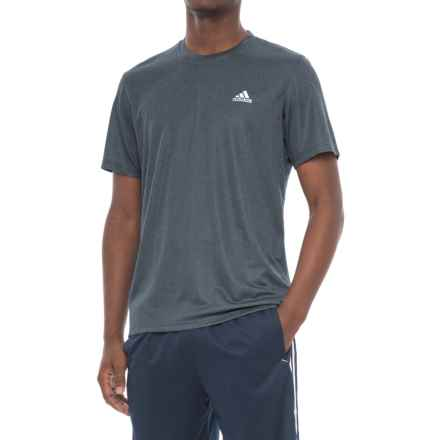 adidas Heathered Athletic T-Shirt - Short Sleeve (For Men) in Night Navy Heather - Closeouts