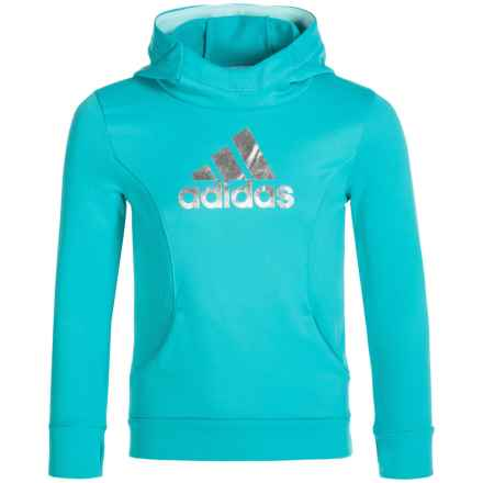 adidas High-Performance Hoodie (For Little Girls) in Turquoise - Closeouts